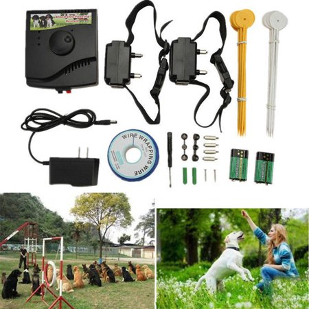 (Pet Underground Electric Dog Fence Fencing System 2 Shock Collar Waterproof)