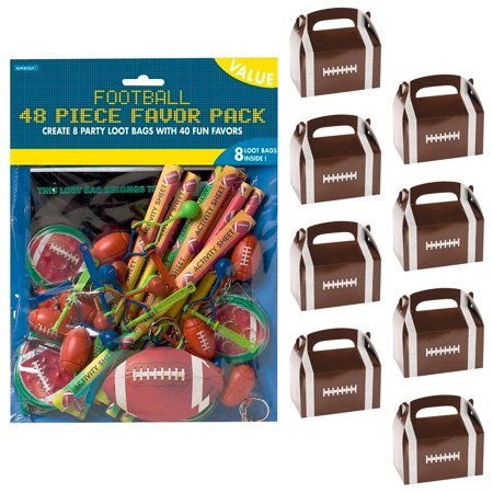 Football Party Filled Favor Box Kit (For 8 Guests) - Football Party Games