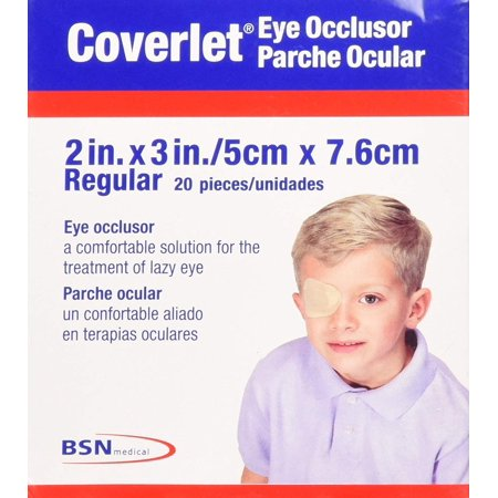 Coverlet Eye Occlusor Eye Patch Regular Size 20/box, Manufactured By BSN Medical, Inc By Biersdorf,USA - Heart Eye Patch