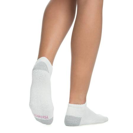 Hanes Womens' Cushioned Low Cut Athletic Socks, 10+2 bonus