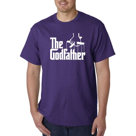 New Way 908 - Unisex T-Shirt The Godfather Gangster Movie Italian Mob Large Purple