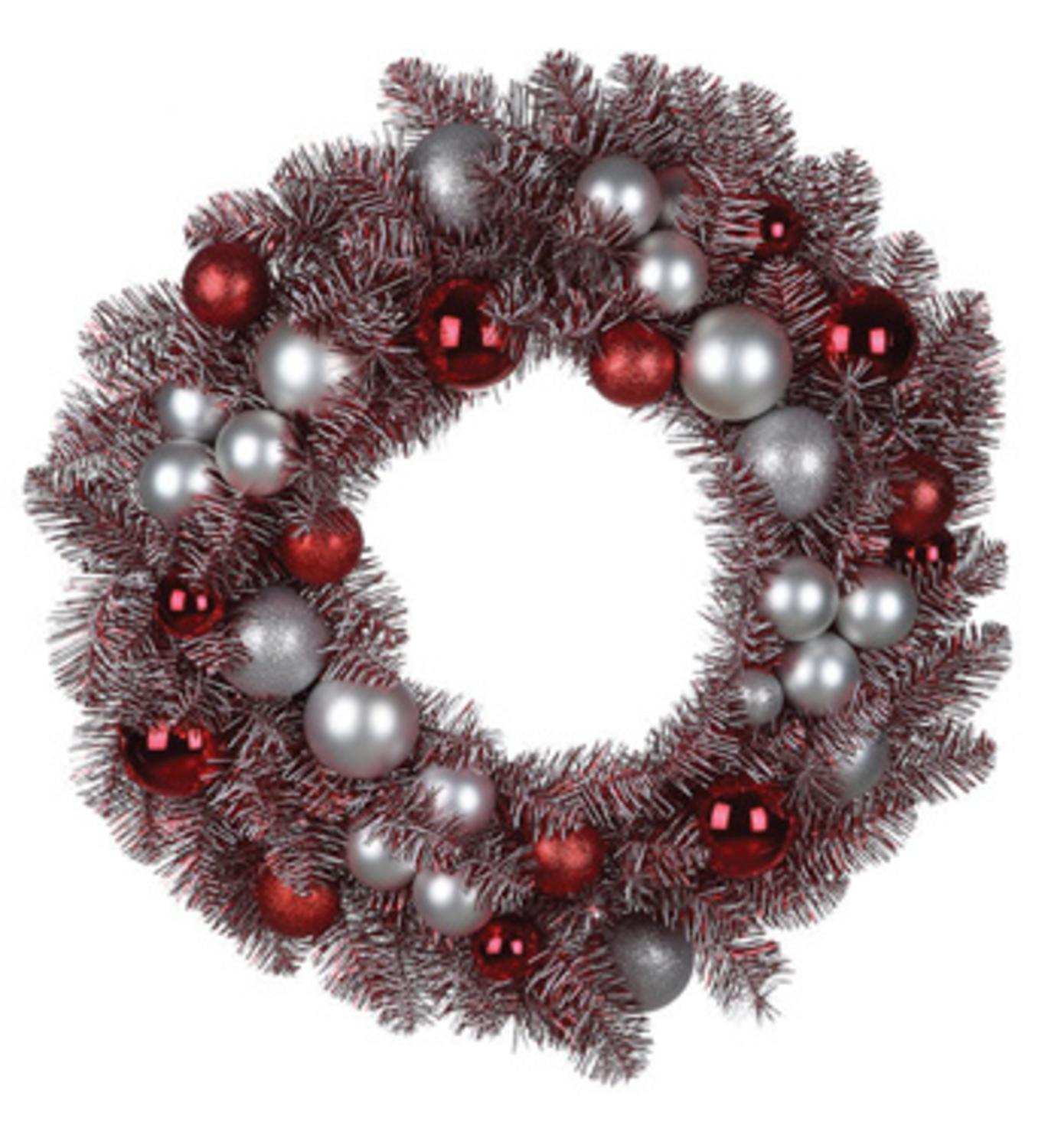"Napco 29"" Unlit Red/White Peppermint Candy Artificial Christmas Wreath"