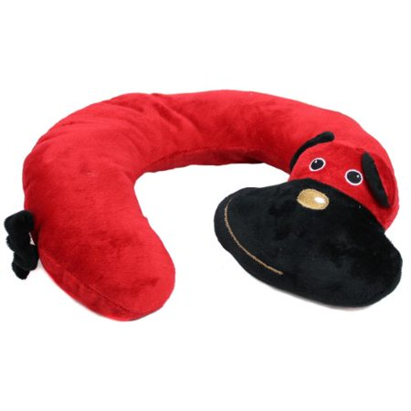 Animal Character Pillows : Animal Character Travel Neck Pillow, Red Dog by Northpoint - Walmart.com