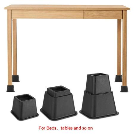 Furniture RaiserAdjustable Black Bed Risers Or Furniture Riser Bed - Furniture risers for desk