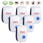 Ultrasonic Pest Repeller - Mosquito Repeller - Upgrade 2019 Insect Bug Repellent Indoor - Electromagnetic Plug in Pest Control - Electronic Repel Mice Rat - Reject Flea Spider -6PACK