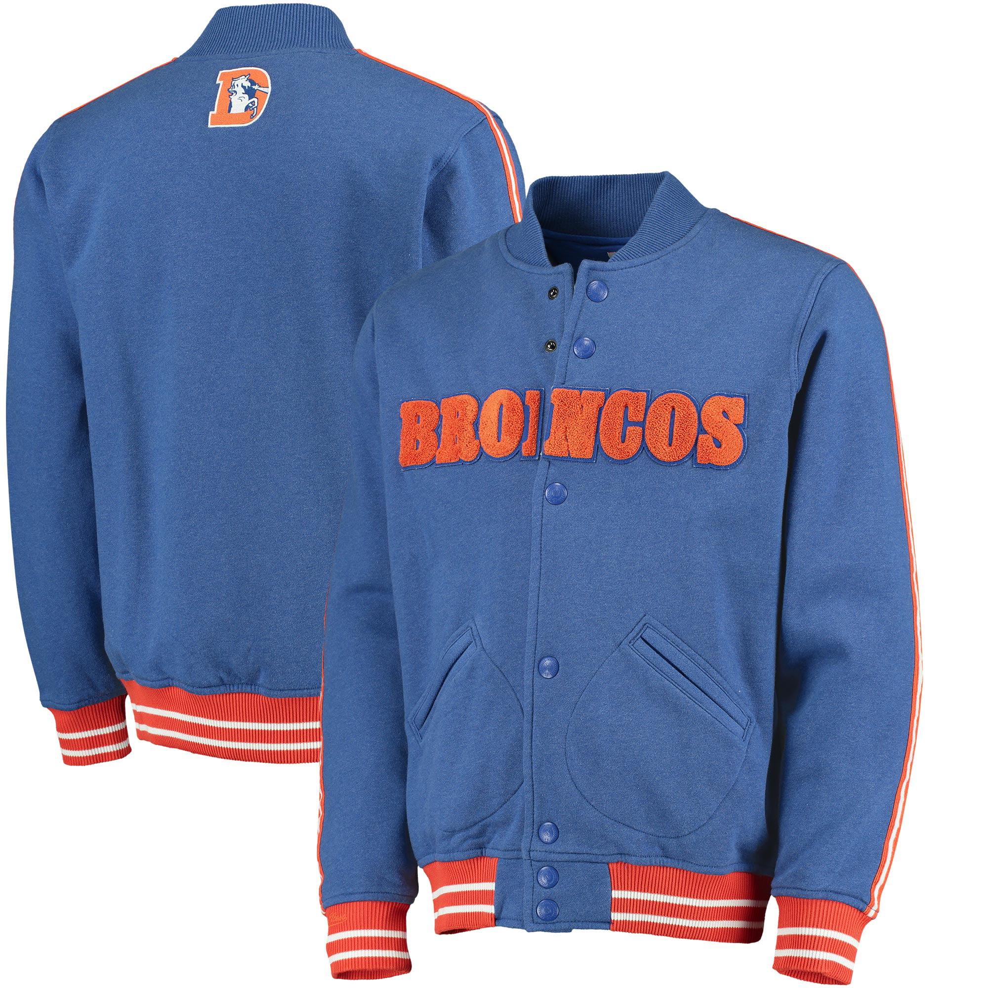 Denver Broncos Mitchell & Ness Play Call Fleece Full-Zip Jacket - Royal