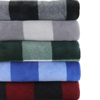 "Mainstays 2-Pack Fleece Plush Throw Blanket, 50"" x 60"""