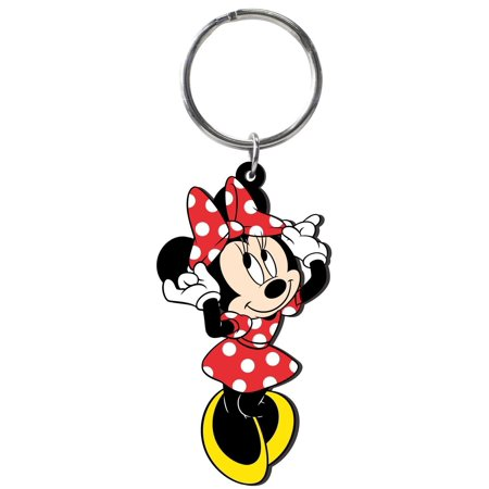 Mickey Mouse Soft Touch PVC Key RIng: Minnie