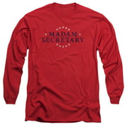 Madam Secretary Distress Logo Mens Long Sleeve Shirt