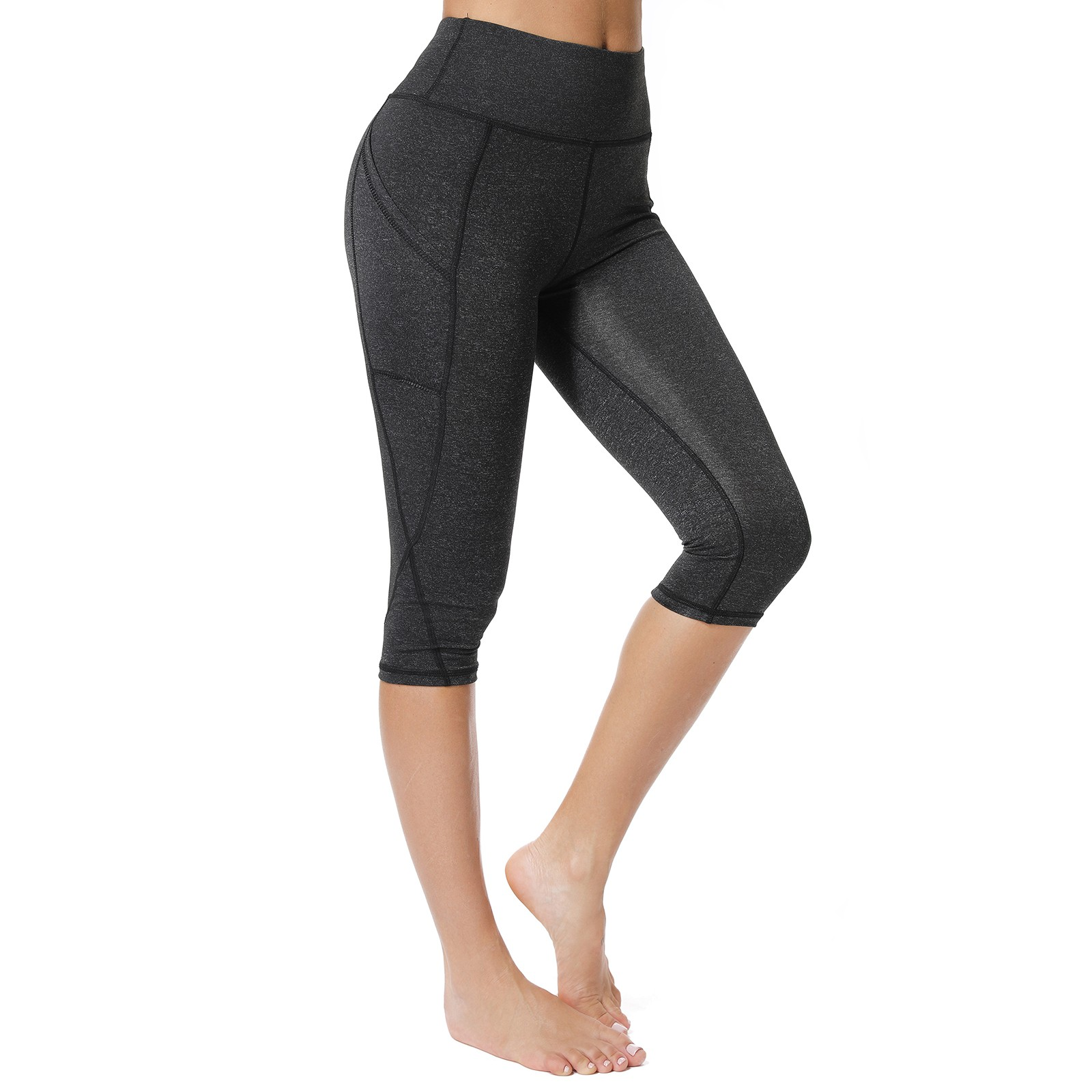 STELLE Womens Workout Shorts//Biker Shorts for Running Yoga High Waisted 8 Essential with Side Pockets
