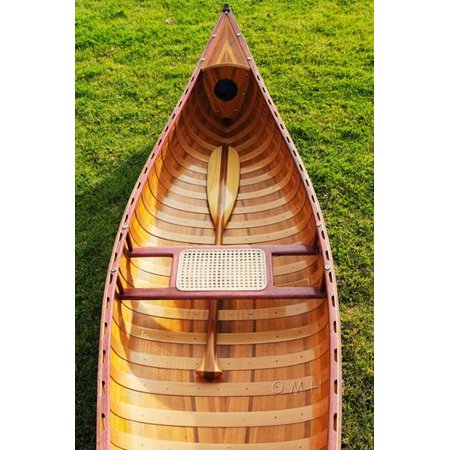 Old Modern Handicrafts Canoe with Ribs Curved Bow, 10-Feet, Red