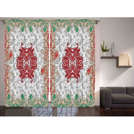 print bedroom living room dining room curtain 2 panels