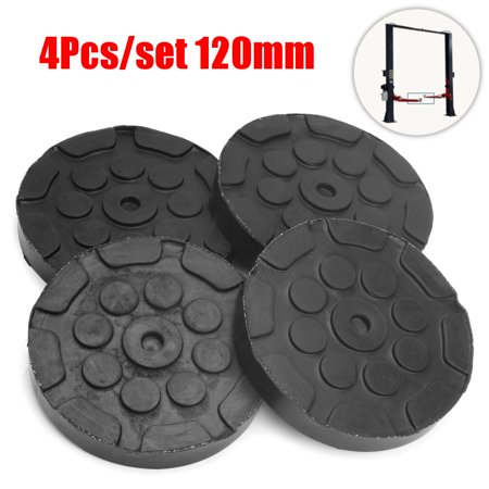 Rubber Lighting - 4Pcs Round Rubber Arm Pads for Car Auto Jacking Lift Dia 120mm Thick 25mm