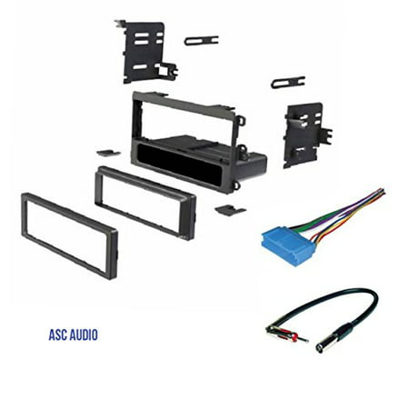 ASC Car Stereo Dash Kit Wire Harness Antenna Adapter for