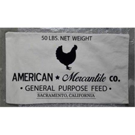 Vip Home Garden Ff1047 American Mercantile Fabric Bag White