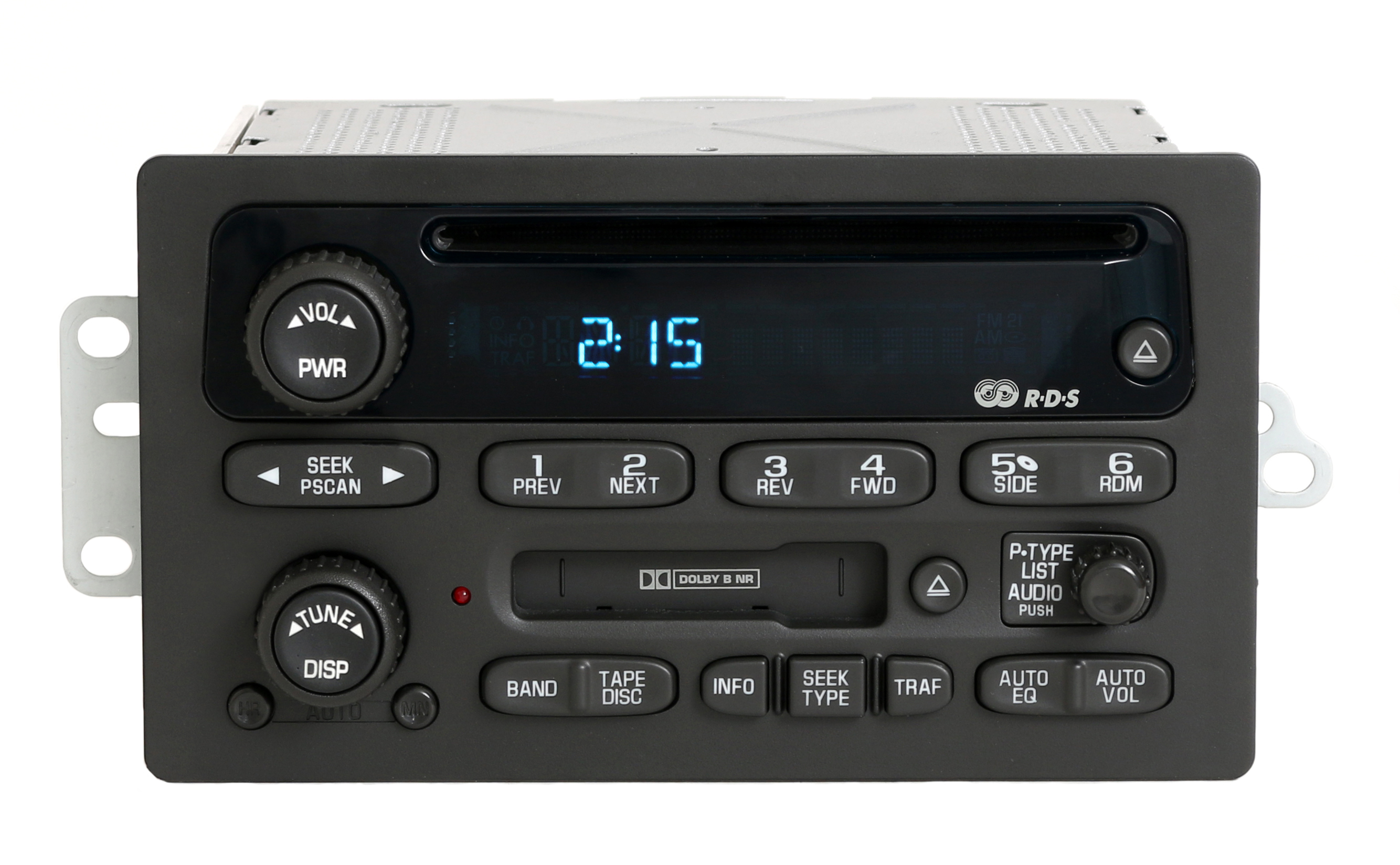 Chevy GMC 2002-03 Trailblazer Envoy Radio AM FM CD Cassette Player PN 15058225 Refurbished by GM