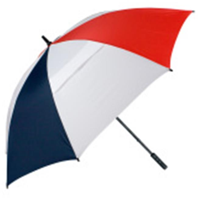 FJWestcott 8212T Wind-Vented Telescoping Golf Umbrella - Red and White and Navy