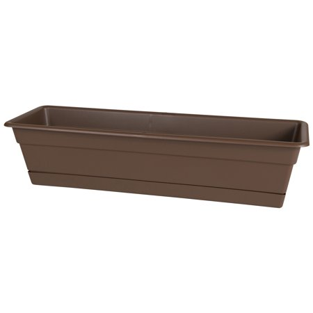 Bloem Dura Cotta Window Box Planter w/Tray 18