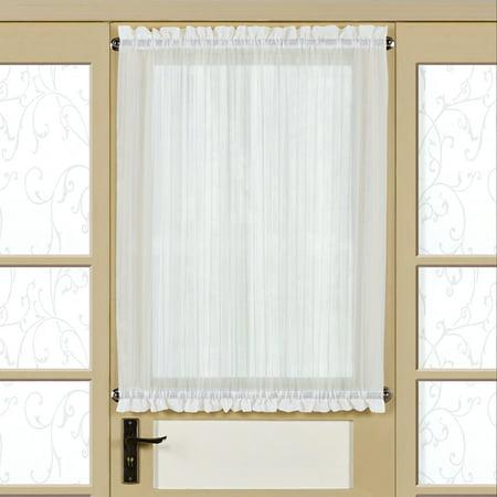 Harmony Semi-Sheer Micro-Stripe Tailored Door Panel With Tieback 60