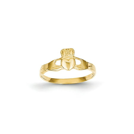 14k Polished Ladies Claddagh Ring ()