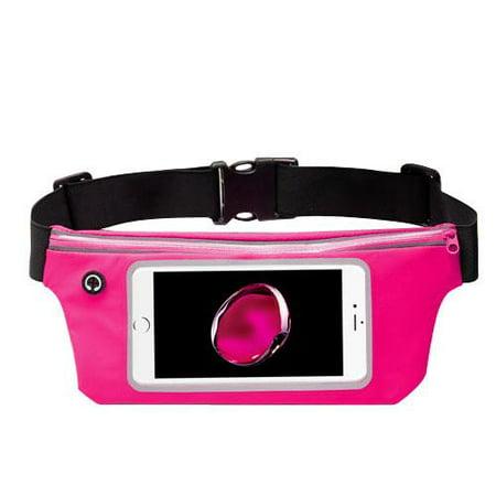 Premium Sports Activity Waist Pack Pocket Belt for HTC U11, U11+, U11 Life, U Ultra, U Play, 10, Bolt, 10 evo, One, One Max, One M8 M9 (Hot Pink) + MND Mini