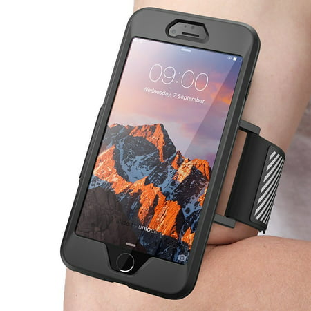 iPhone 7 Plus Armband, SUPCASE Easy Fitting Sport Running Armband Case with Premium Flexible Case (Best Iphone 5 Sports Armband)