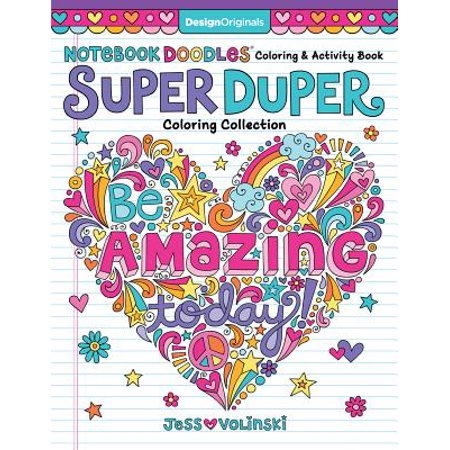 Notebook Doodles Super Duper Coloring & Activity Book : With Color-Your-Own Stickers!