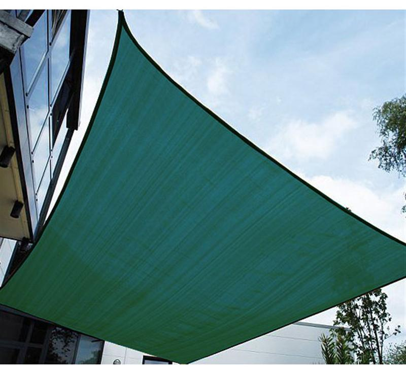 Outsunny 20u0027 X 16u0027 Rectangle Outdoor Patio Sun Shade Sail Canopy   Green