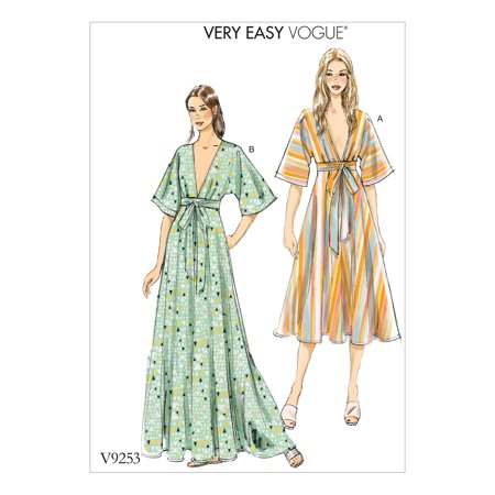 Vogue Patterns Sewing Pattern Misses\' Deep-V Kimono-Style Dresses ...