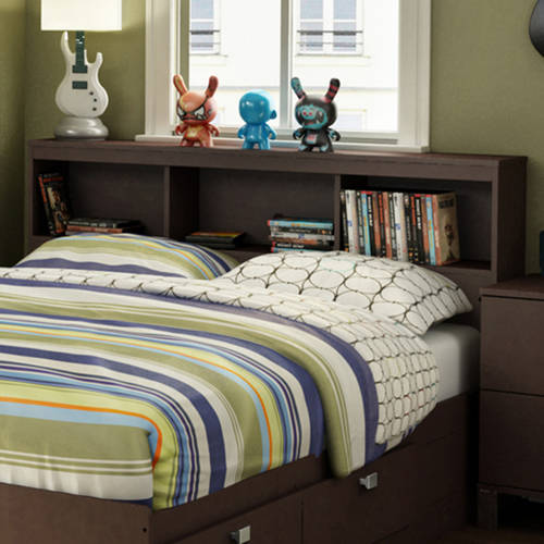 "South Shore Spark Full 54"" Bookcase Headboard, Multiple Finishes"