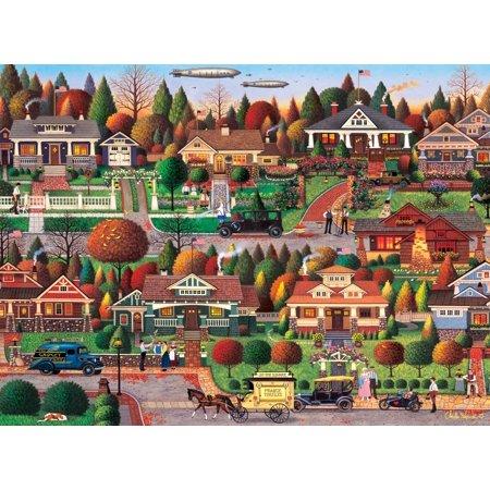 Buffalo Games - Charles Wysocki - Labor Day in Bungalowville - 1000 Piece Jigsaw (Buffalo Gap Trade Days)