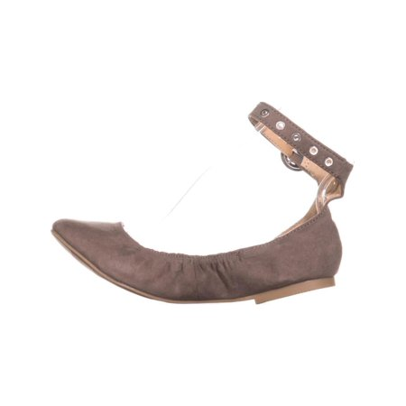 MG35 Francy Ankle Strap Ballet Flats, Taupe - image 4 of 6