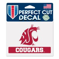 """Washington State Cougars WinCraft 4"""" x 5"""" Perfect Cut Decal"""