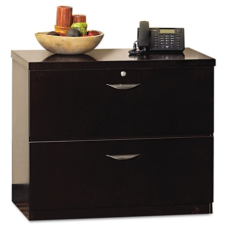Mayline Mira Series Wood Veneer Two-Drawer Lateral File, 34-1/2 x 24 x 29-1/2, -