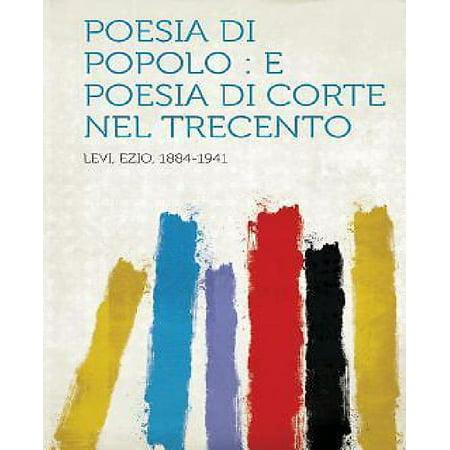 Poesia Di Popolo  E Poesia Di Corte Nel Trecento
