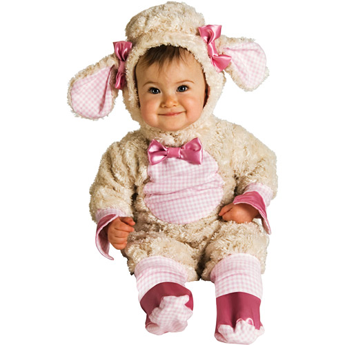 pink lamb infant halloween dress up role play costume