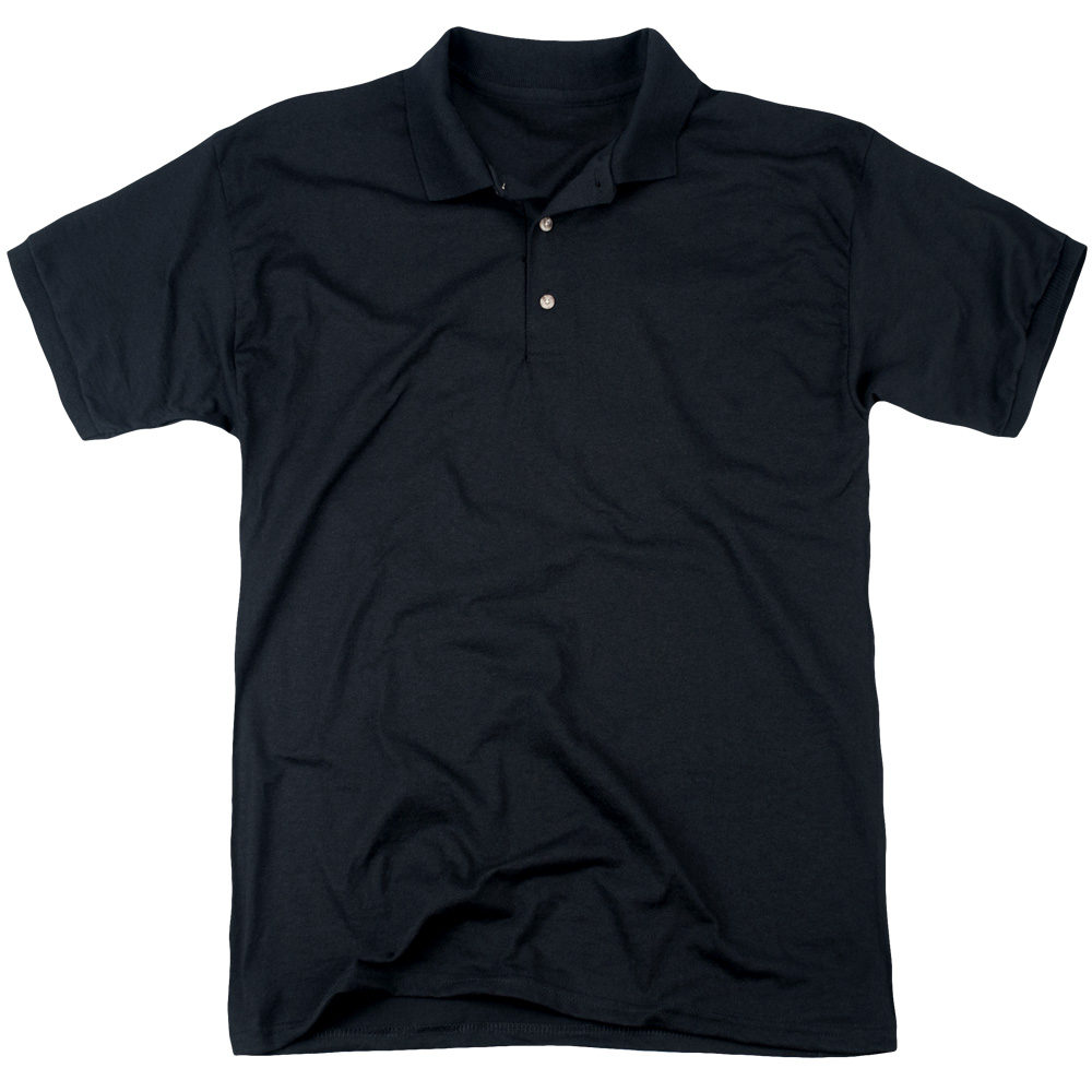 Man Of Steel Scratchy Steel (Back Print) Mens Polo Shirt