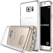 Galaxy Note 5 Case, Ringke [Fusion] Crystal Clear PC Back TPU Bumper w/ Screen Protector [Drop Protection/Shock Absorption Techn