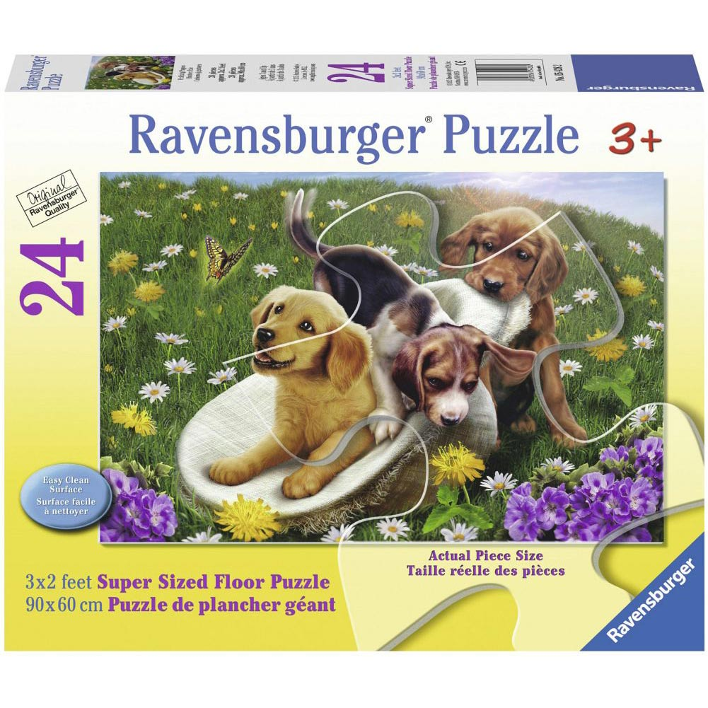Frolicking Puppies 24 Piece Floor Puzzle