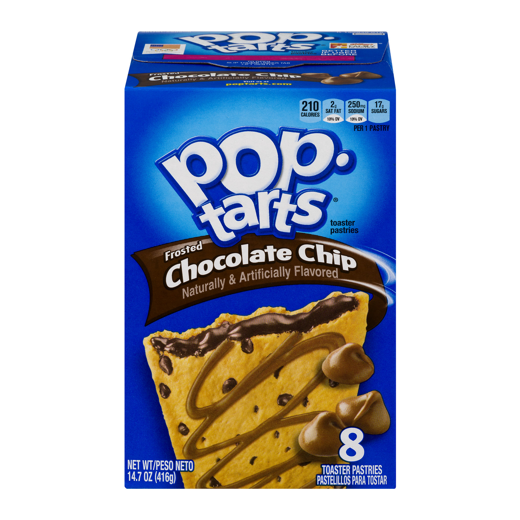 Kellogg's Pop-Tarts Frosted Chocolate Chip Toaster Pastries, 8ct 14.7 oz