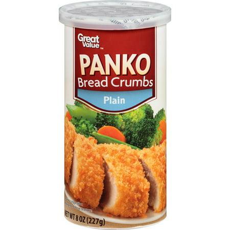 Fish Bread Crumbs - Great Value Panko Bread Crumbs, Plain, 8 oz