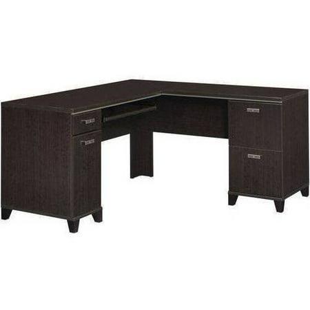 Bush Furniture Tuxedo L-Desk, Mocha Cherry