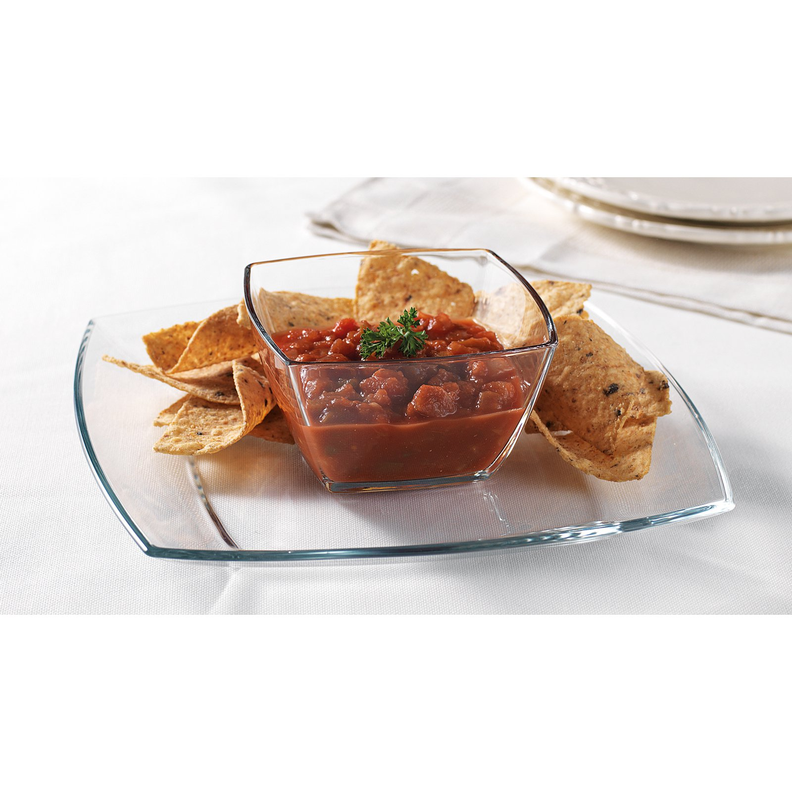 Home Essentials 10 in. Bon Appetit Chip and Dip Server