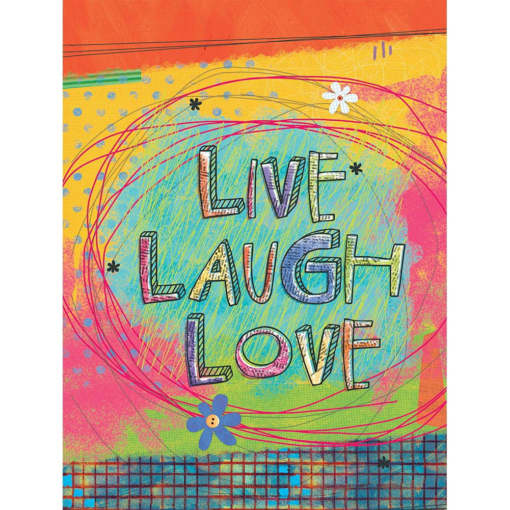 "Well Street by Lang ""Live, Laugh, Love"" Large Flag, 28"" x 40"""