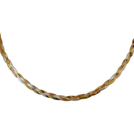 Women's Sterling Silver 035 Herringbone Necklace, 18