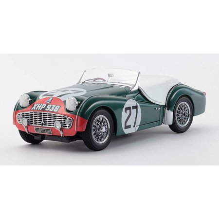 Triumph TR3S 1959 Lemans #27 1/18 Diecast Car Model by Kyosho