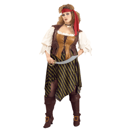 Adult Plus Pirate Wench Costume Rubies 17420