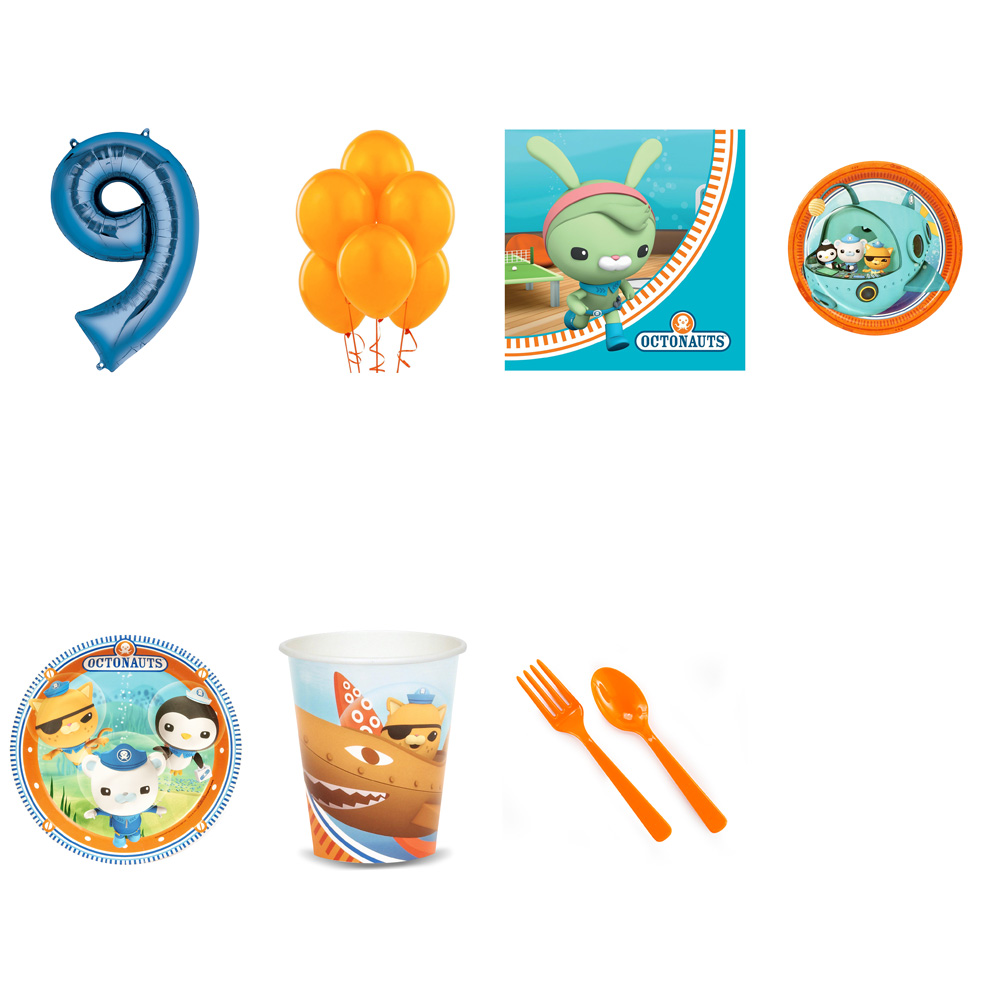 OCTONAUTS PARTY SUPPLIES PARTY PACK FOR 32 WITH BLUE #9 BALLOON