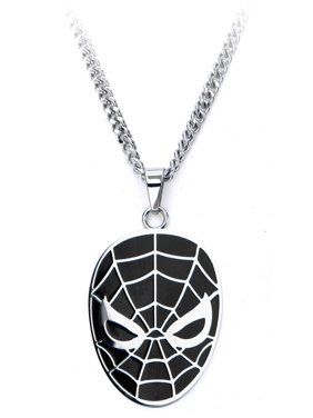 Marvel Spiderman Face Steel Pendant with Chain