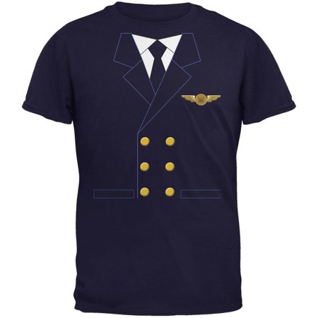 Halloween Airline Airplane Pilot Navy Youth T-Shirt (T Pain Halloween)